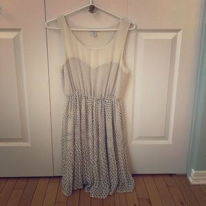 Lark & Wolf cream polka dot dress